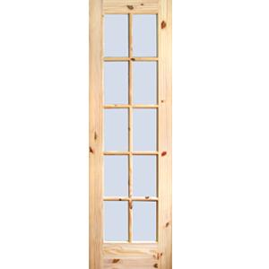24u2033 Knotted Pine 10 Lite Single Interior Slab Door