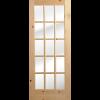 """36"""" Knotted Pine 15 Lite Single Interior Prehung Left Hand Door Fiberglass Entry Doors at Builders Surplus in Louisville"""