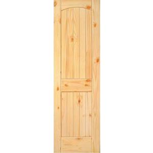 """18"""" Knotted Pine 2 Panel Single Interior Prehung Left Hand Door Fiberglass Entry Doors at Builders Surplus in Louisville"""