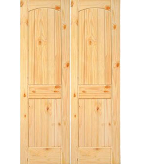 """36"""" Knotted Pine 2 Panel French Interior Prehung Doors Fiberglass Entry Doors at Builders Surplus in Louisville"""