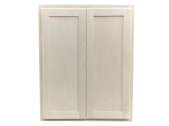 30 X 24 X 12 Unfinished Alder Shaker Wall Kitchen Cabinet   Builders Surplus