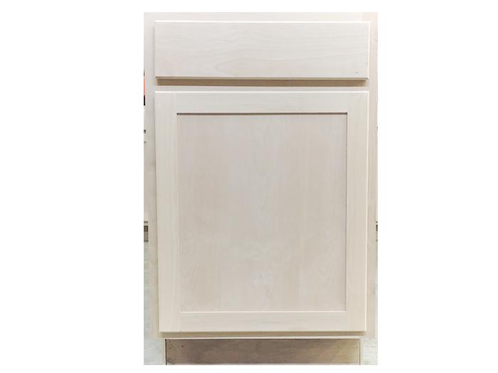 34.5 X 21 X 24 Unfinished Alder Shaker Base Kitchen Cabinet   Builders  Surplus