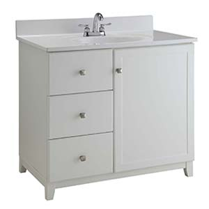 30'' 2LH Shorewood White Furniture Style Vanity