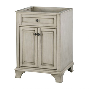 24'' Single Antique Gray Furniture Style Vanity