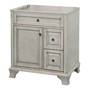 30'' Single Antique Gray Furniture Style Vanity