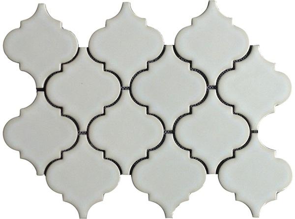 Highland Park Antique White Arabesque Porcelain Mosaic