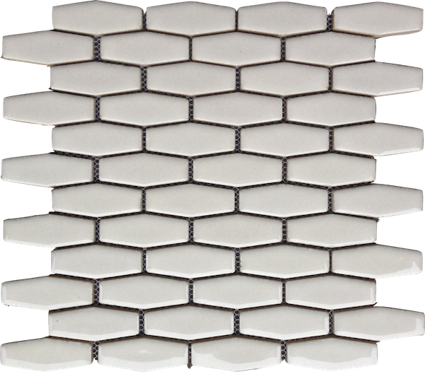 Highland Park Antique White Elongated Hexagon Tile
