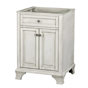 24'' Single Antique White Furniture Style Vanity