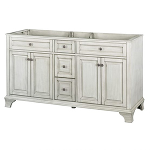 60'' Double Antique White Furniture Style Vanity