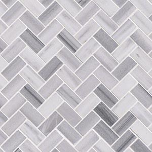 12 x 12 Bergamo Herringbone Polished Mosaic Tile  at Builders Surplus in Louisville Kentucky