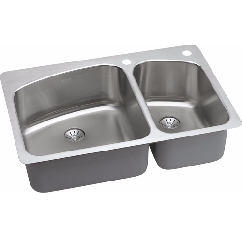 Pleasant Elkay Stainless Steel Drop In 34X22X10 Kitchen Sink Complete Home Design Collection Lindsey Bellcom