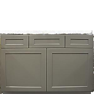 """48"""" Drawer Top Grey Shaker Vanity"""