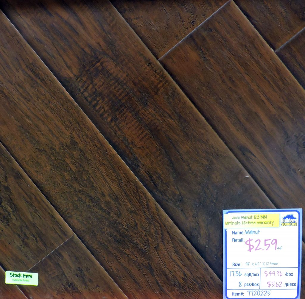 Sheffield Java Walnut 12 3mm Java Walnut Laminate Flooring