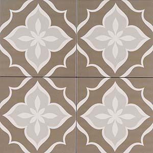 8x8 Kenzzi La Fleur Patterned Tile  at Builders Surplus in Louisville Kentucky