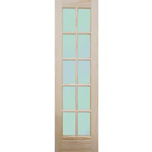 "24"" Meranti 10 Lite Single Interior Prehung Right Hand Door Fiberglass Entry Doors at Builders Surplus in Louisville"