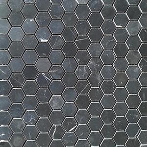 12 x 12 Nero Marquina Mosaic Tile  at Builders Surplus in Louisville Kentucky