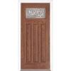 """36"""" Medium Oak Fiberglass Cameron Craftsman Single Prehung Left Hand Entry Door Fiberglass Entry Doors at Builders Surplus in Louisville"""