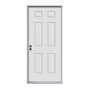 36'' White Steel 6-Panel 90 minute Commercial Door is an in stock option at Builders Surplus. If you're looking for an extravagant entry door