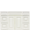 "48"" Double Antique White Summit Vanity"