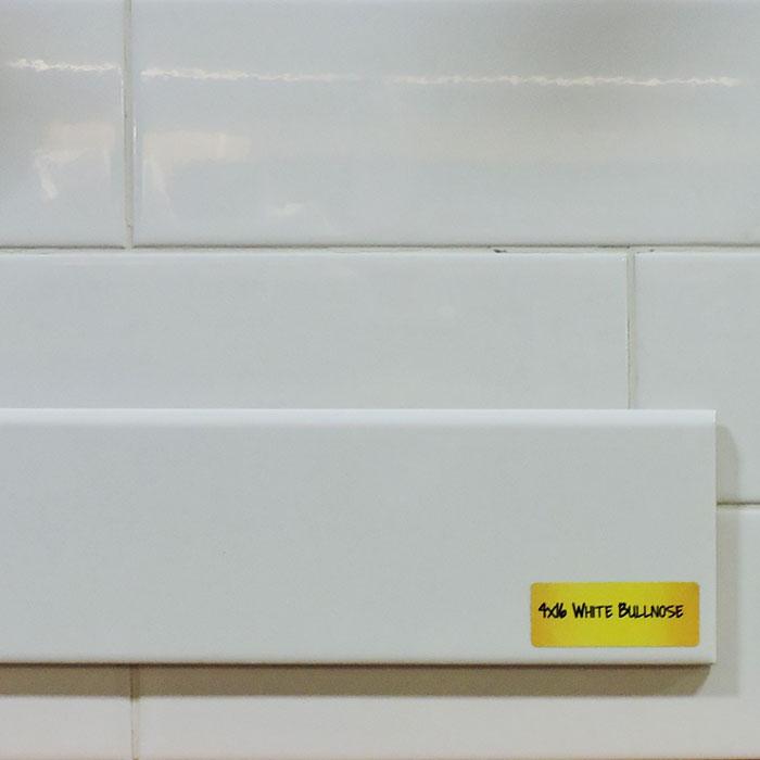 4x16 Whisper White Subway Tile Bullnose Builders Surplus