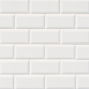 White Gloss 2x4 Staggered Bevel Mosaic Tile At Builders Surplus In Louisville Kentucky