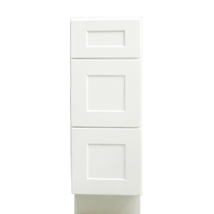 "12"" Drawer Base White Shaker Vanity"