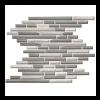 White Wooden Random Mosaic Mesh Tile at Builders Surplus in Louisville Kentucky
