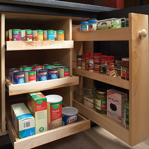 Pull Out Pantry Cabinets and Spice Racks