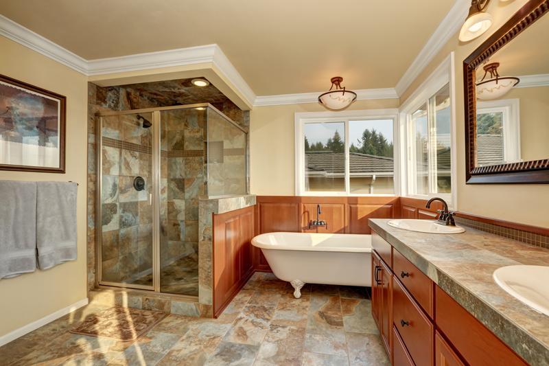 slate-bathroom - stone tile