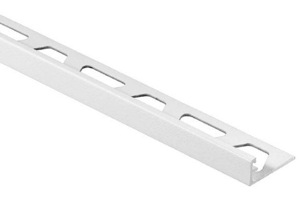 "Schluter Jolly Edge 1/2"" in aluminum matte white"