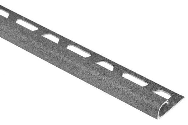 """Schluter Rondec  1/2"""" in aluminum pewter"""