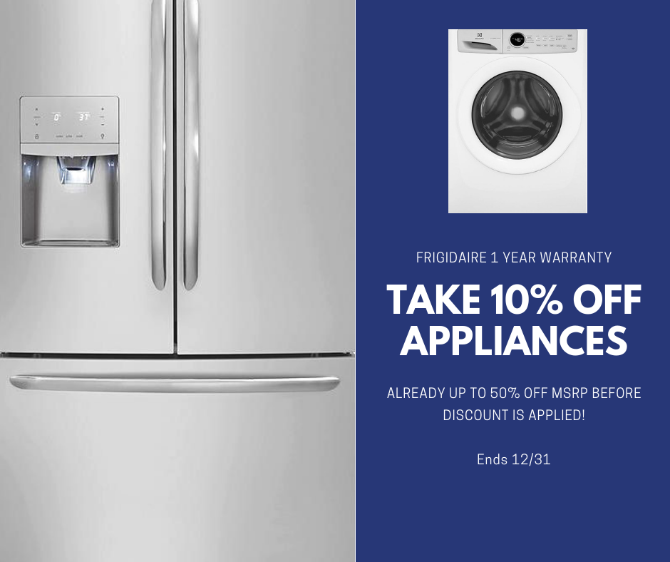Ten Percent Off Stainless Appliances
