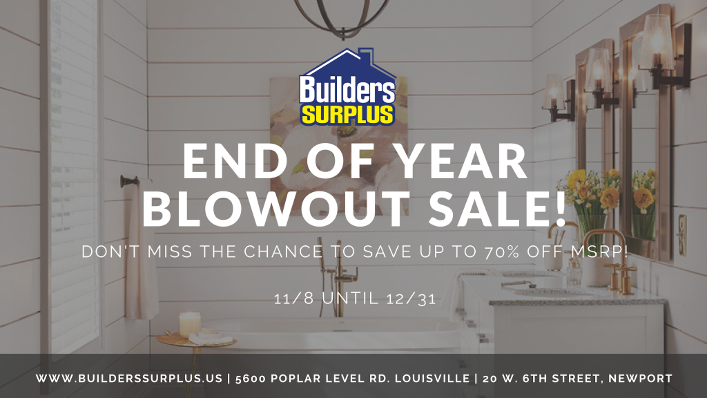 End of year blowout sale