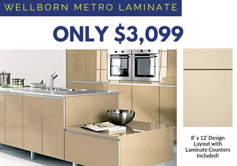 3. Wellborn Metro Cabinets with Laminate Countertops