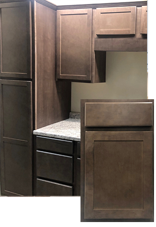 maple stone drift style cabinets builders surplus louisville and cincinnati