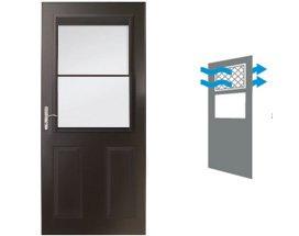 """Andersen 36"""" Half Lite Glass & Aluminum Single White Exterior Prehung  Storm Door at Builders Surplus in Louisville"""