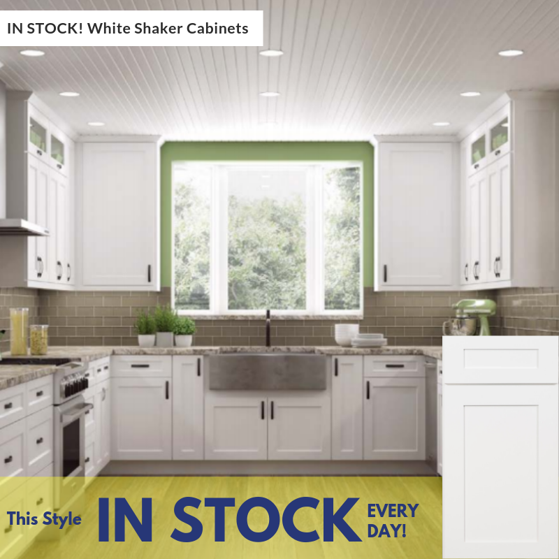 White Kitchen Cabinets Resale Value: In-Stock White Shaker Value Series Cabinets