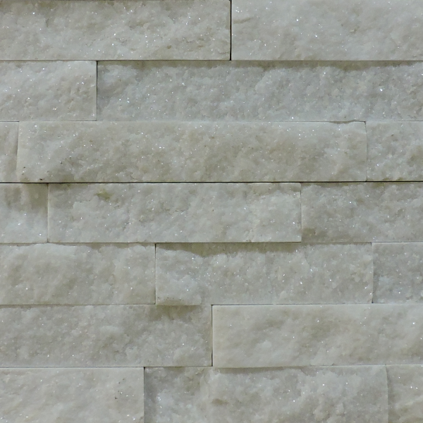 Arctic White Ledge Stone Tile at Builders Surplus in Louisville Kentucky