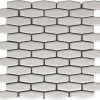Highland Park Antique White Elongated Hexagon Porcelain Mosaic Tile  at Builders Surplus in Louisville Kentucky