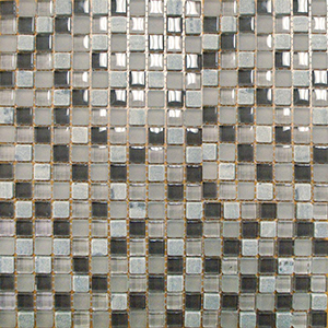 12 x 12 Arctic Cloud Glass and Stone Mosaic Tile  at Builders Surplus in Louisville Kentucky