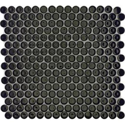 Black Penny Round Mosaic Tile at Builders Surplus in Louisville Kentucky