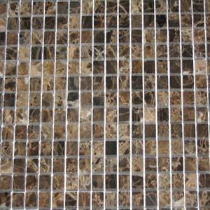 12 x 12 Dark Emperador Mosaic  Tile  at Builders Surplus in Louisville Kentucky