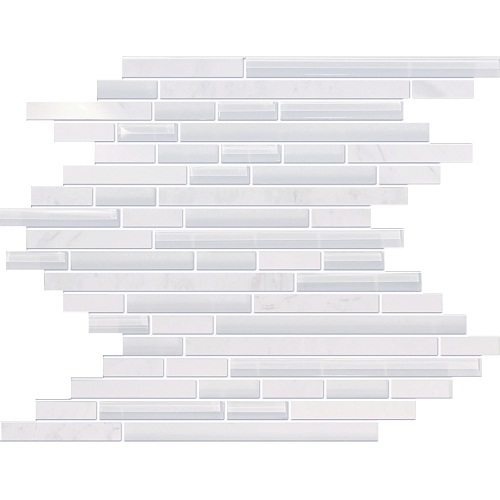 Wooden White Marble & Glass Mosaic Tile at Builders Surplus in Louisville Kentucky