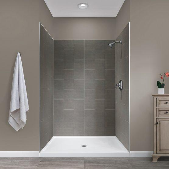 Jetcoat 48x34x78 Slate 5P Shower Wall Kit - Jetcoat Shower Wall Tile