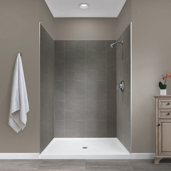 Jetcoat 48x34x78 Quarry 5P Shower Wall Kit - Jetcoat Shower Wall Tile