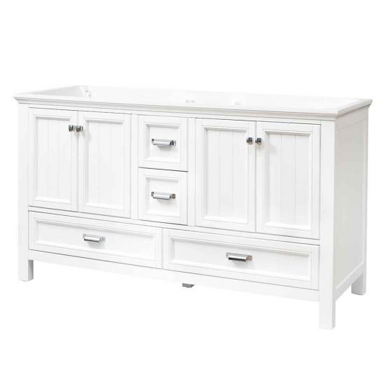 "60"" Brantley White Furniture Style Vanity"