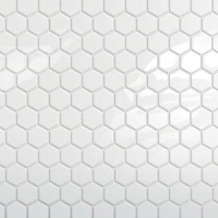 White 1x1 Hexagon Mosaic Tile  at Builders Surplus in Louisville Kentucky