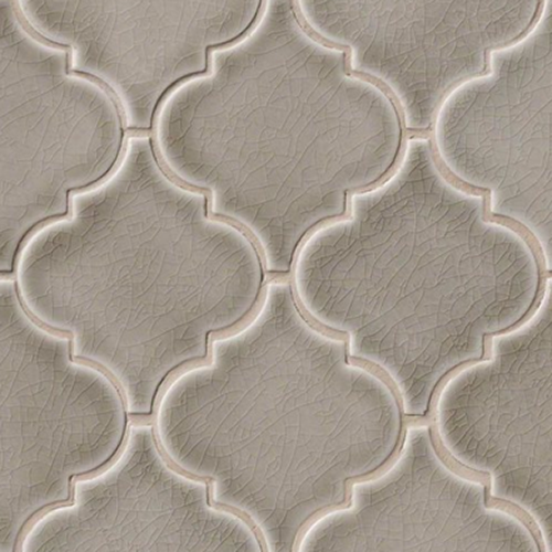 Highland Park Collection Dove Gray Arabesque Mosaic Tile at Builders Surplus in Louisville Kentucky