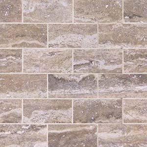 Pietra Venata Gray 2x4 Polished Mosaic Subway Tile at Builders Surplus in Louisville Kentucky