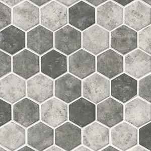 Urban Tapestry Hexagon Mosaic at Builders Surplus in Louisville Kentucky